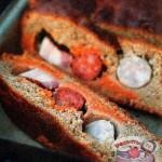 Ржаной хлеб с сосисками